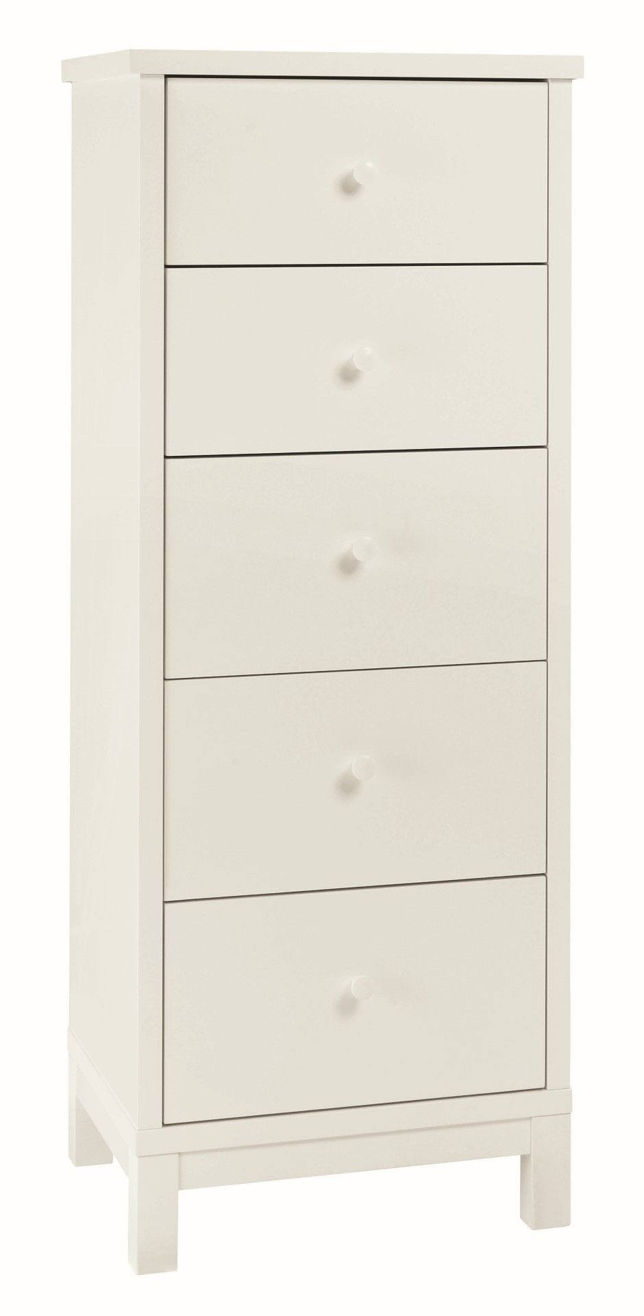 White Chester 5 Drawer Tall Chest Bedroom Furniture Hills