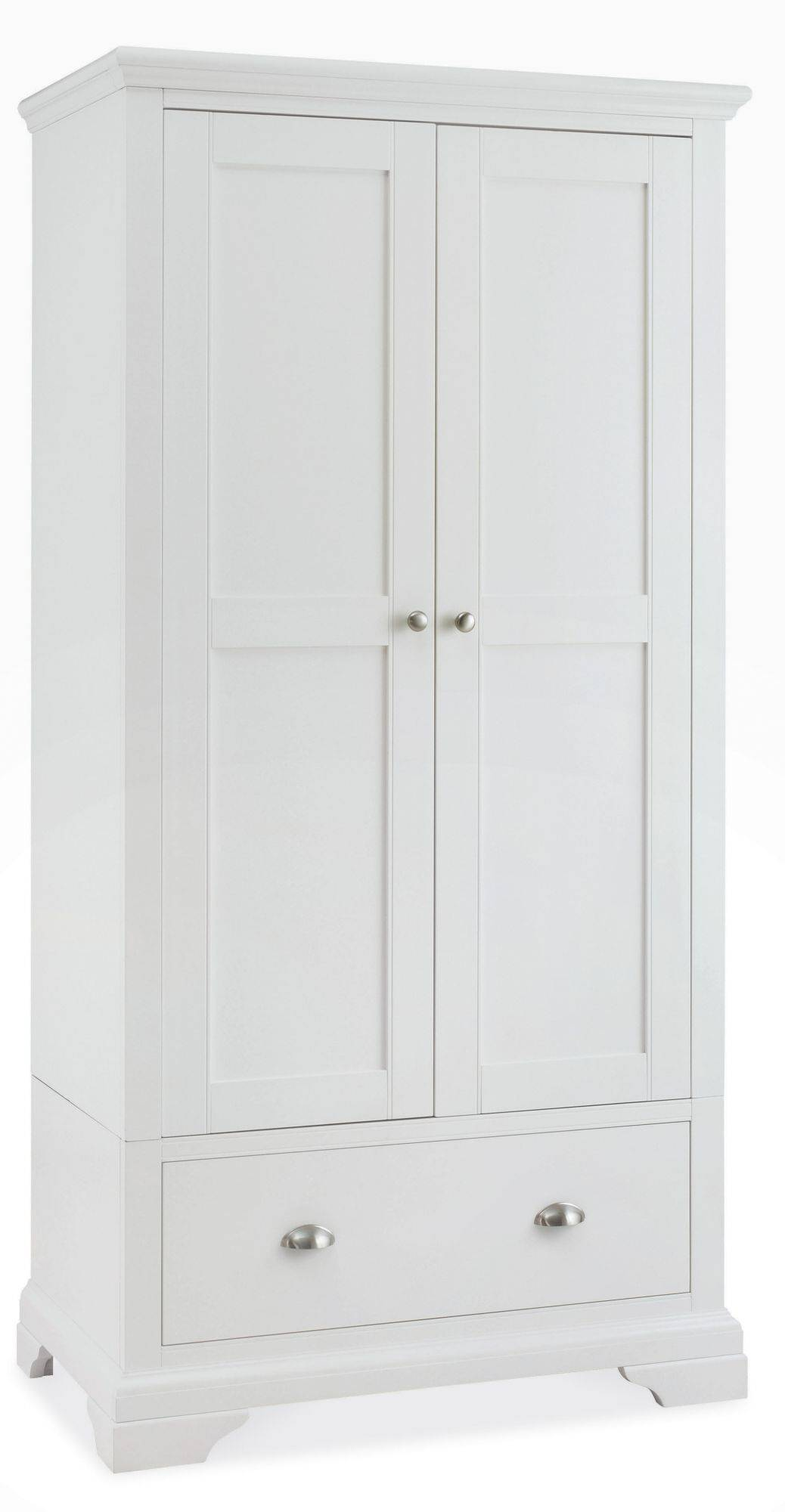 Fairford White Double Wardrobe Bedroom Furniture Hills