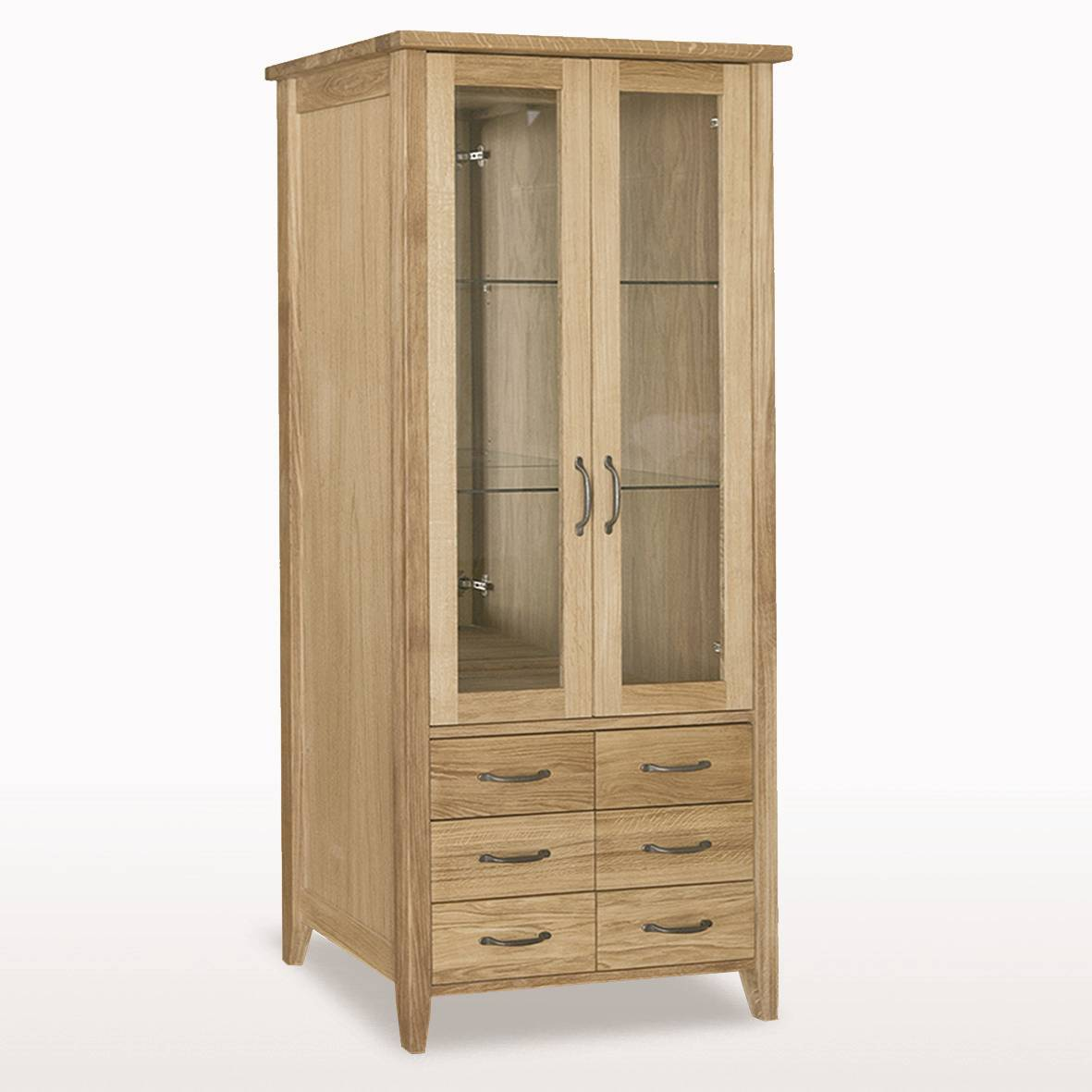 Windsor Dining Bookcase Glass Doors 6 Drawers Glass