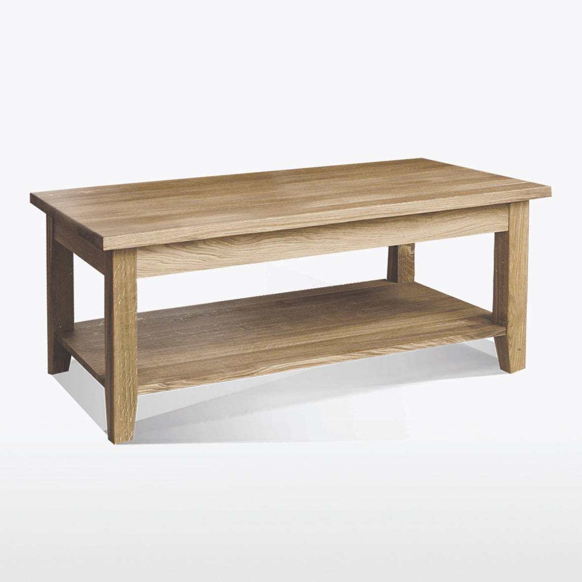 Windsor dining coffee table with shelf w60xl120xh50 for Coffee table with shelf underneath