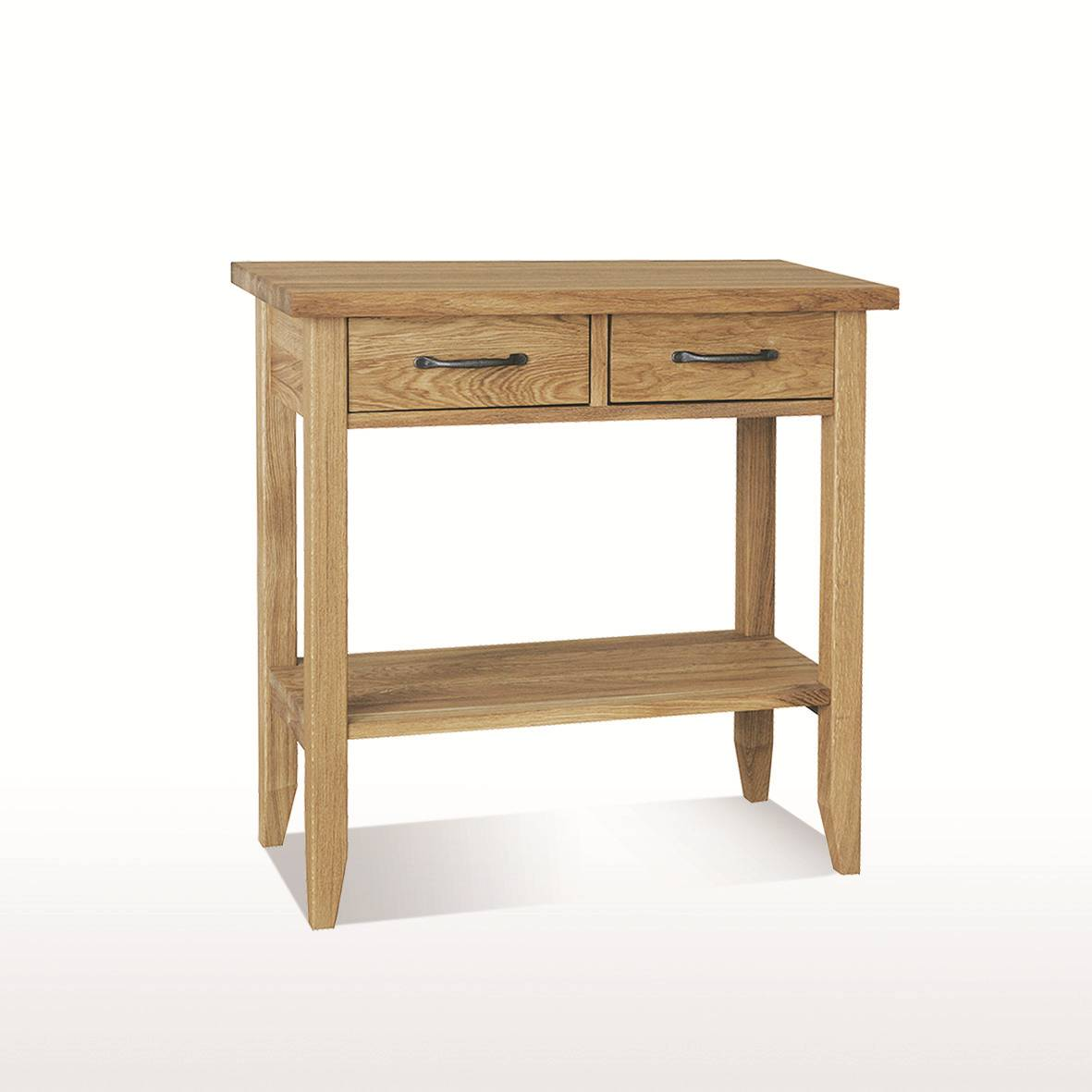 windsor dining console table 2 drawers with shelf. Black Bedroom Furniture Sets. Home Design Ideas