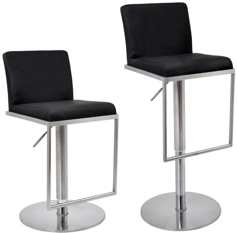 Metropolitan Bar Stool Cadiz Black Faux Leather Seat