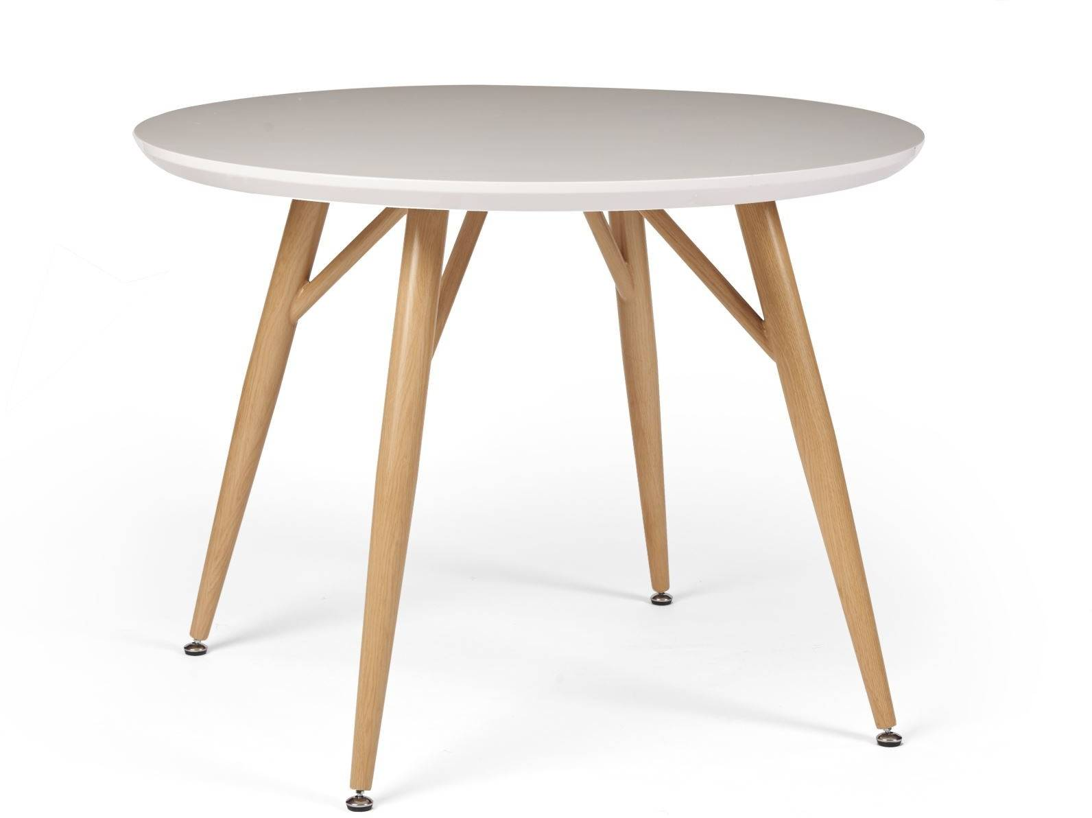 Dansk Round Dining Table White High Gloss Dining Tables