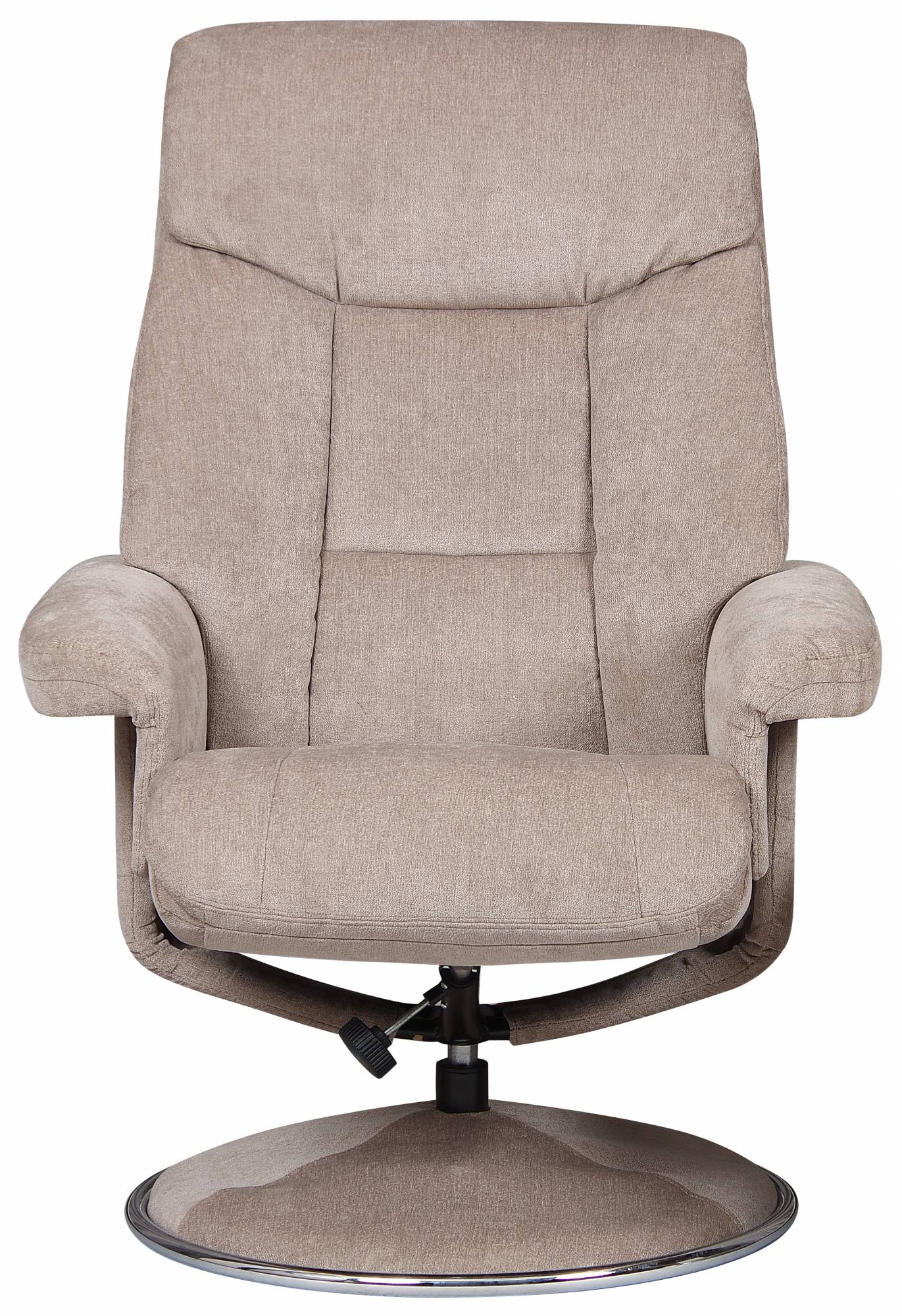 Toulouse Swivel Recliner Chair Amp Footstool Mist Fabric