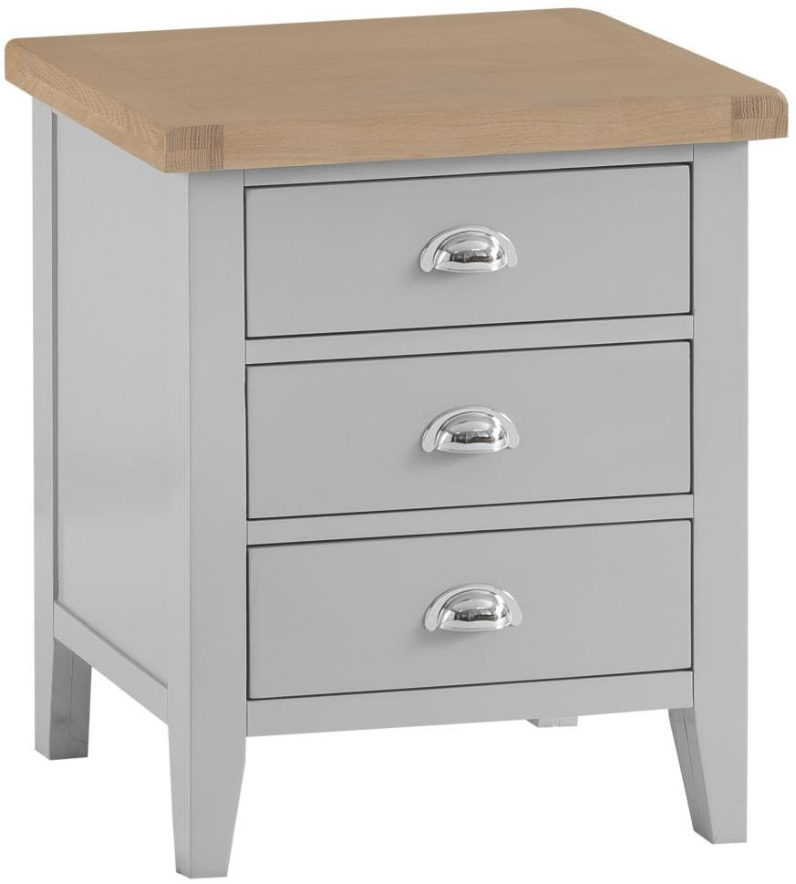 1c6835ab0459 Padstow Extra Large Bedside GREY - Our Bedroom Ranges