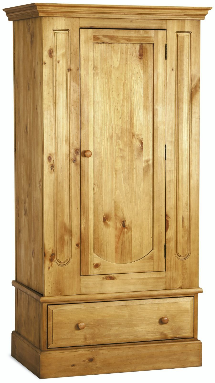 Country Pine 1 Door Wardrobe Traditional Furniture Hills Furniture Store