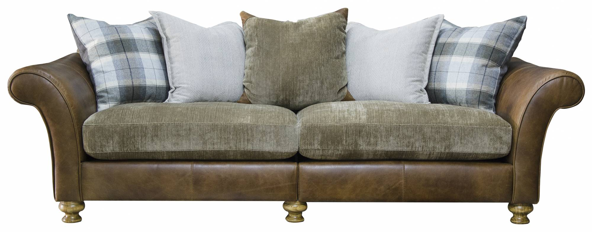 Highlander 4 Seater Leather Sofa Grade 1 Sofas