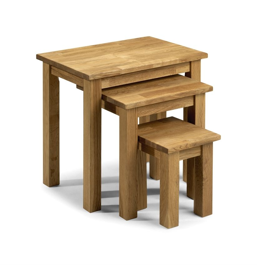 Coxmoor Nest Of Tables Solid American White Oak