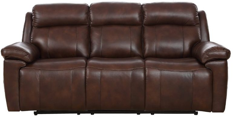 Montana 3 Seater Manual Recliner Sofa Leather Bonded