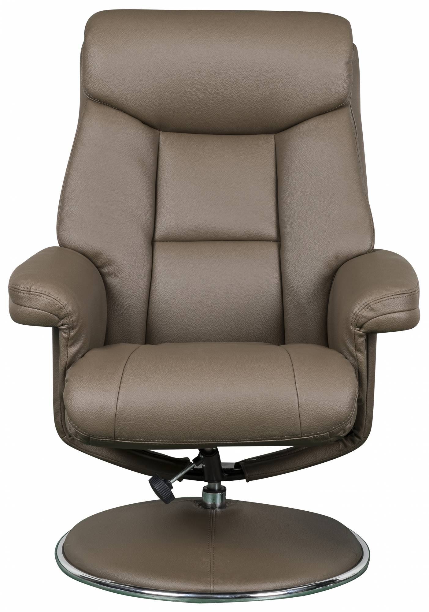 Toulouse - Swivel Recliner Chair & Footstool Truffle Faux ...