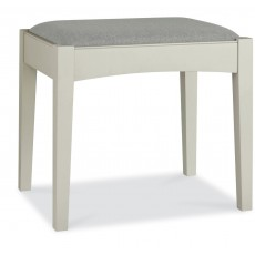 Fairford Soft Grey & Walnut Stool
