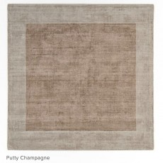 Blade Border 160x160cm Putty Champagne