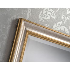 "201 Gold&Silver 35"" X 25"" Bevel (89Cm X 64cm) Mirror"
