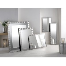 "4"" Manhattan Silver 36"" X 26"" Bevel (91cm X 66cm) Mirror"