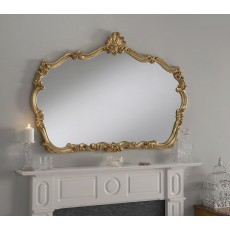 "1110 Gold 46"" X 36"" Plain (117cm X 91cm) Mirror"