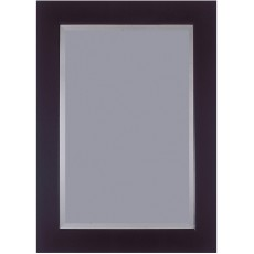 "3""Black 42"" X 30"" Bevel (107cm X 76cm) Mirror"