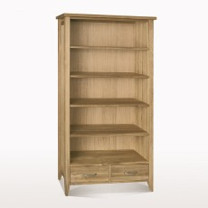 Windsor Dining Tall bookcase 2 drawers (W95xD28xH175)