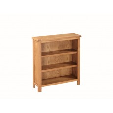 Essentials Country Oak Low Bookcase