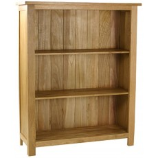Oak Occassional Low Bookcase
