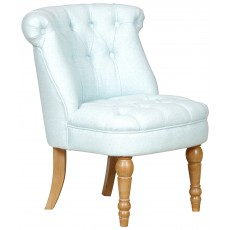 Lichfield - Buttoned Backed Chair Fabric Duck Egg