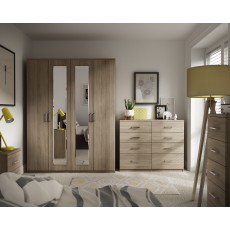 Malta Bedroom Double Tall Gents Robe  Finish - Bardolino Oak