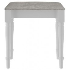 Signature White Stool Grey Pad