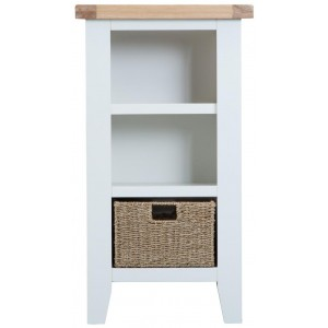 Padstow White Small Narrow Bookcase
