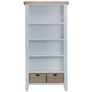 Padstow Grey Large Bookcase