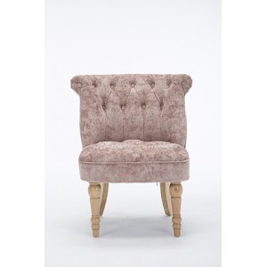 Lichfield - Buttoned Backed Chair Fabric Blush