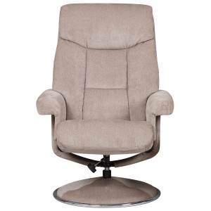 Toulouse -  Swivel Recliner Chair & Footstool Mist Fabric