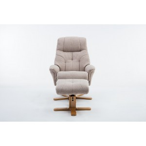 Wexford - Swivel Recliner Chair & Footstool  Fabric - Lisbon Wheat