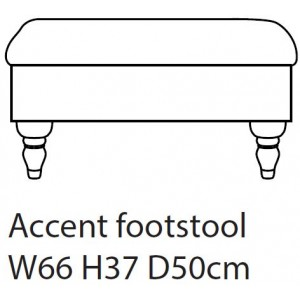 Accent Footstool D Fabric