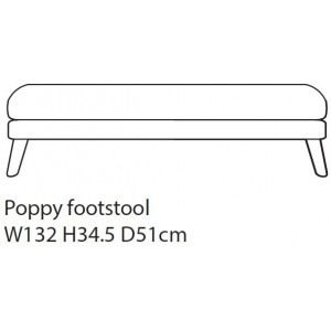 Poppy Footstool D Fabric