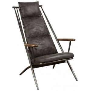 Heritage Collection Huntingdon Studio Chair - New Grey Leather (Ely)