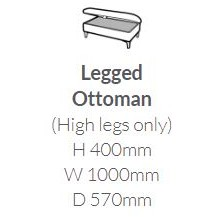 Cassie Collection Legged Ottoman SE