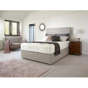 Kew 13200 75cm True Edge 2500 Shallow Divan Set on Legs