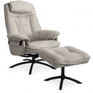 Consul Collection Swivel Recliner Chair - Complete With Footstool /Hendrix Fabric
