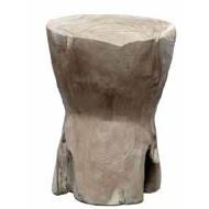 Stylebook Collection Round Bobbin Stool / Side Table Natural Grey