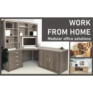 Home Office Collection Small Desk With OSD Hutch