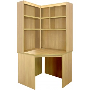 Home Office Collection Corner Desk With OSO Hutch Set