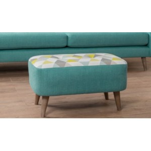 Lurano Sofa Collection Small Bench Stool - Grade A Fabric