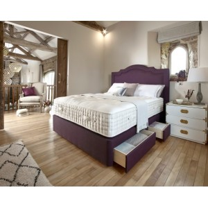 Hampton Court 24700 Collection 120cm True Edge 2500 Shallow Divan Set on Legs