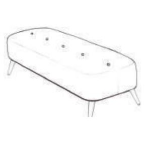 Lurano Sofa Collection Large Bench Stool - Grade B Fabric