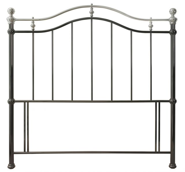 Chloe 150cm Black&Shiny Nickel Headboard