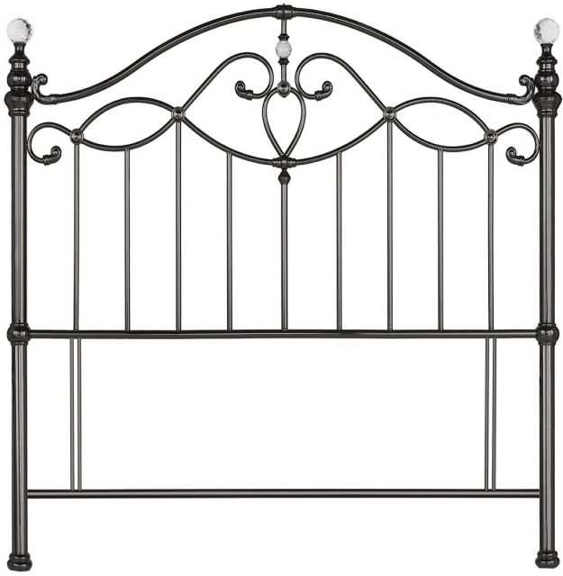 Elena 135cm Black Nickel Headboard