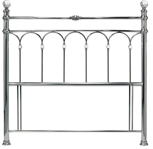 Krystal 150cm Antique Nickel Headboard