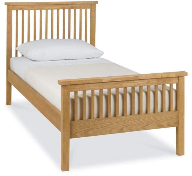 Chester Oak 90cm High Footend Bedstead