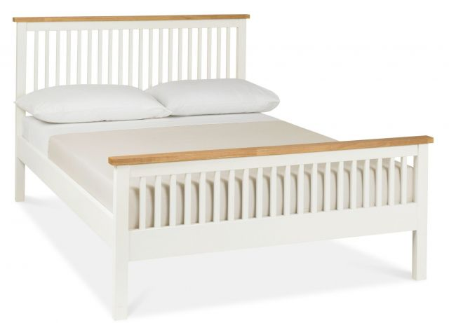 Chester Two Tone 135cm High Footend Bedstead