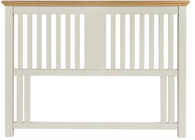 Fairford Soft Grey & Pale Oak 135cm Slatted Headboard