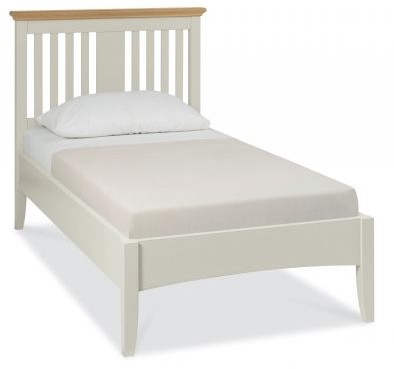 Fairford Soft Grey & Pale Oak 90cm Slatted Bedstead